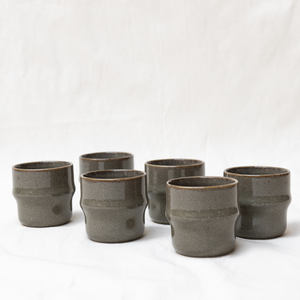 Moss cup - green set of 6