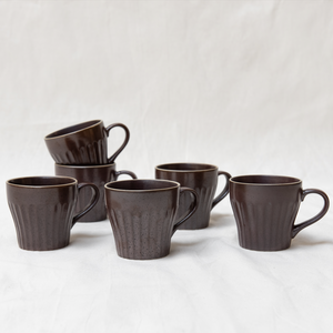 Evi cup - brown set of 6