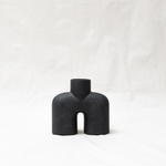 Cobra vase uno - ceramic - black