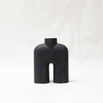 Cobra vase tall - ceramic - black