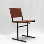 Memento chair - leather - classic brown