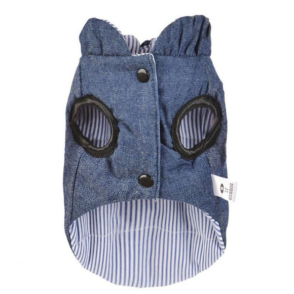Reversible Denim Small Dog Autumn Vest - The Dahlia Collective