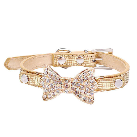 Jeweled Bow Buck Hyde Dog Collar - The Dahlia Collective