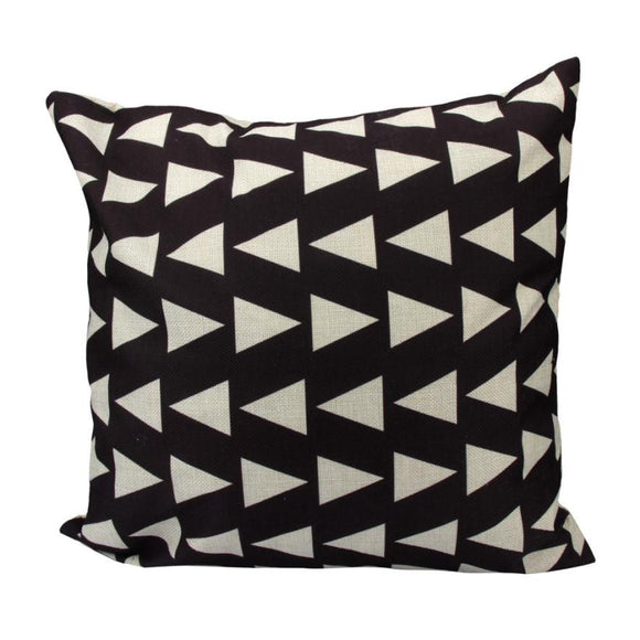 Black & White Geometric Decorative Pillowcase (45*45) - The Dahlia Collective