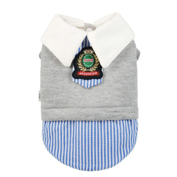 Prep School Jersey Dog Vest - The Dahlia Collective