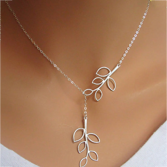 Women's Dainty Cut Leaf Silver Pendant Necklace - The Dahlia Collective