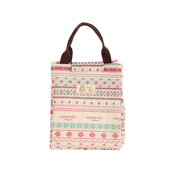 Boho Chic Waterproof Lunch Bag for Women - The Dahlia Collective