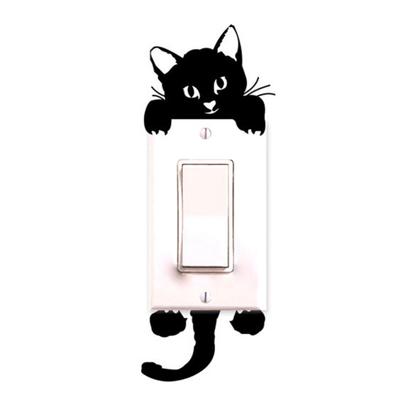 Kitty Cat Light Switch Decor Decals - The Dahlia Collective