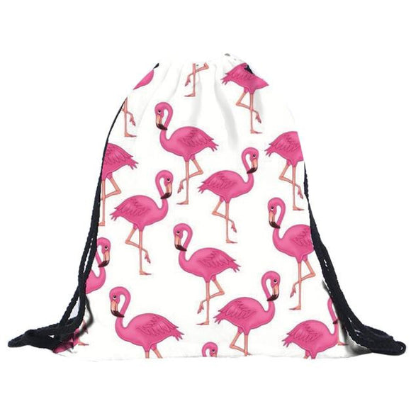 Flamingo Drawstring Backpack - The Dahlia Collective