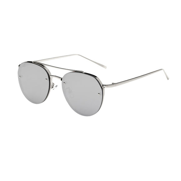 Women Fashion Circular Sunglasses Metal Frame Mirrored Sunglasses - The Dahlia Collective