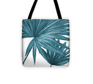 Blue Palmera II Tote Bag - The Dahlia Collective