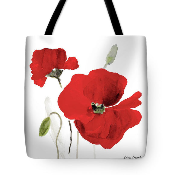 All Red Poppies I Tote Bag - The Dahlia Collective