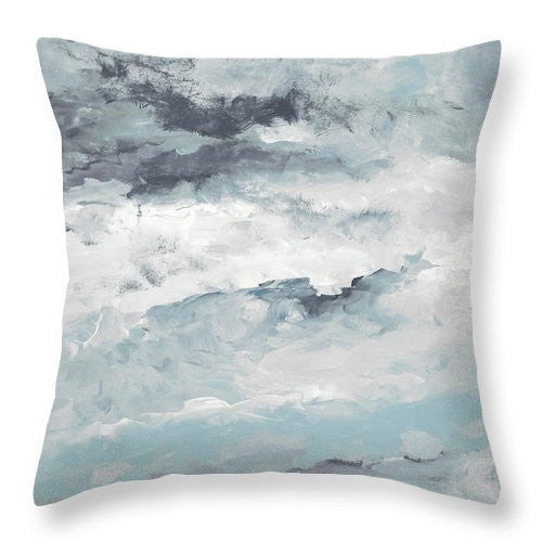Sea Meets Storm II Throw Pillow - The Dahlia Collective