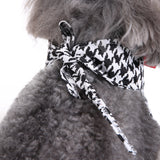 Cute Adjustable Black and White Neck Tie With Red Bow for Dogs - The Dahlia Collective