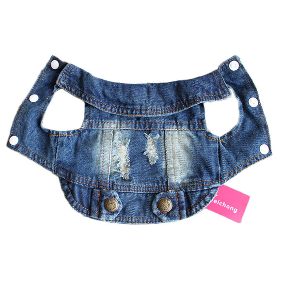 Denim Dog Jacket for Small & Medium Dogs - The Dahlia Collective