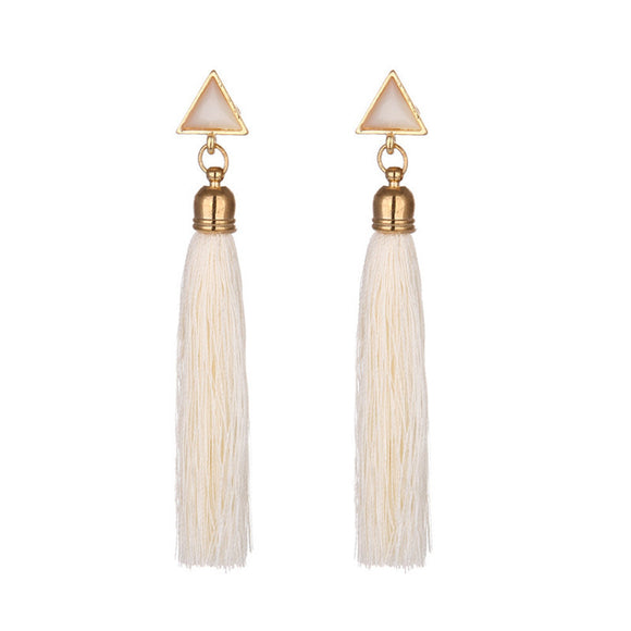 Women's Triangle Boho Fringe Earrings - The Dahlia Collective