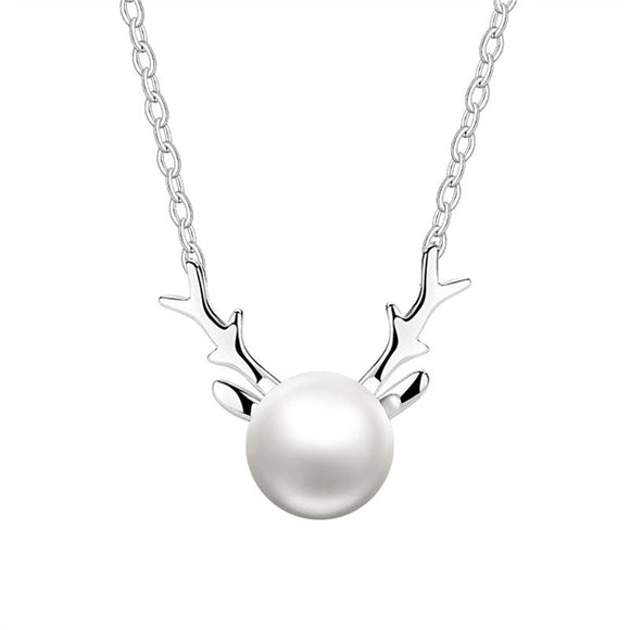 Women's Elk Pearl Necklace - The Dahlia Collective