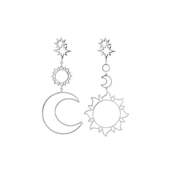 Women's Bohemian Sun & Moon Drop Earrings - The Dahlia Collective