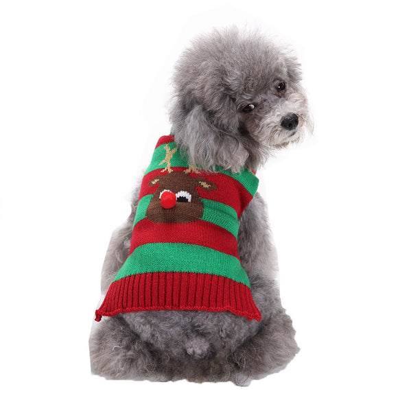 Adorable Turtleneck Christmas Reindeer Dog Jersey - The Dahlia Collective