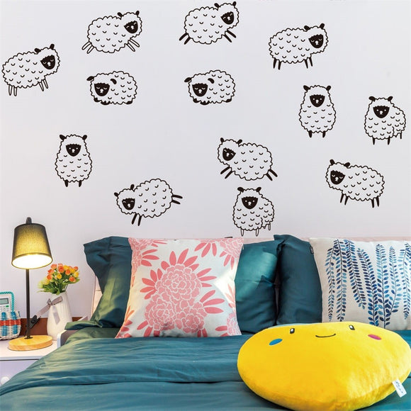 Counting Sheep Bedroom Wall Sticker - The Dahlia Collective