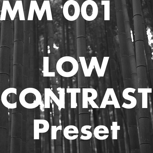 MM 001 Low Contrast Preset for Lr CC