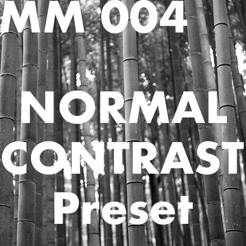 MM 004 Normal Contrast Preset for Lr CC
