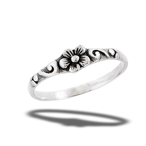 Flower Ring With Scroll