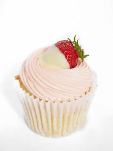 Strawberry & White Chocolate Cupcake