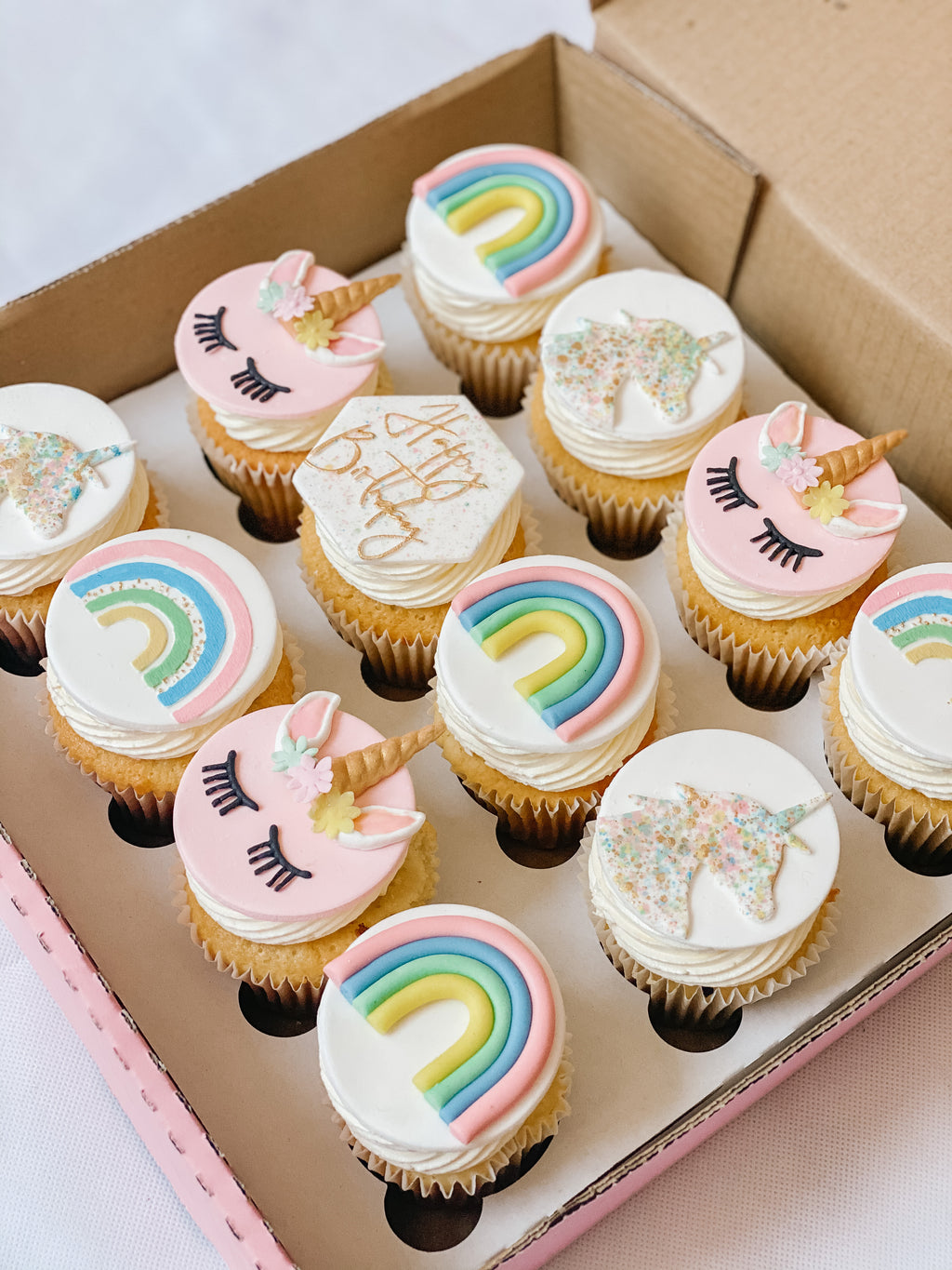 Unicorn & Rainbow Cupcakes