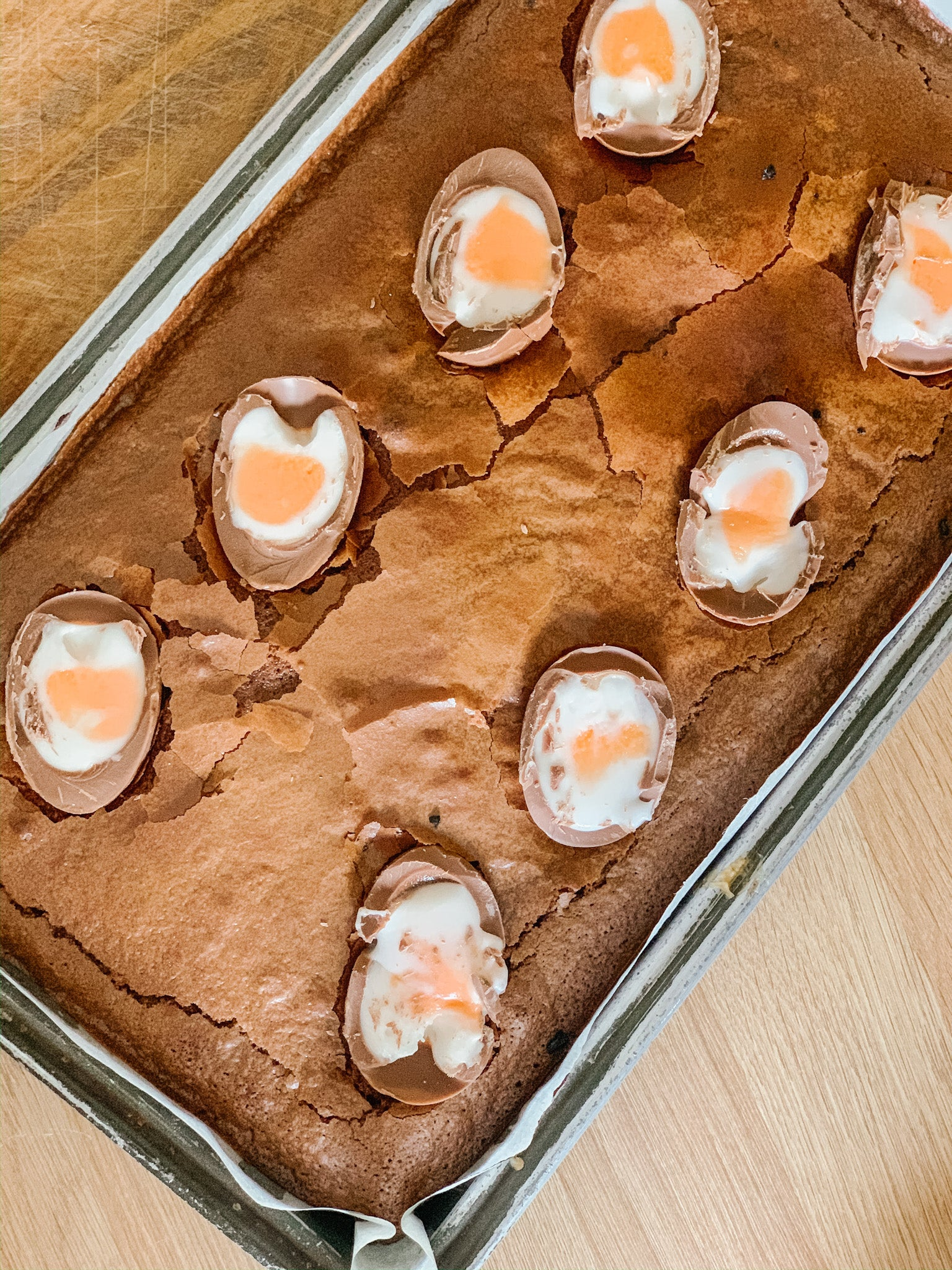 Creme Egg Brownie Recipe Card
