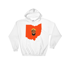 Load image into Gallery viewer, white hoodie welcome to ohio football
