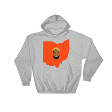 Load image into Gallery viewer, grey hoodie welcome to ohio football