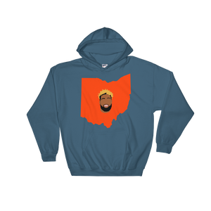 grey hoodie welcome to ohio football