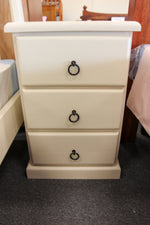 Crescent 3 Drawer Bedside