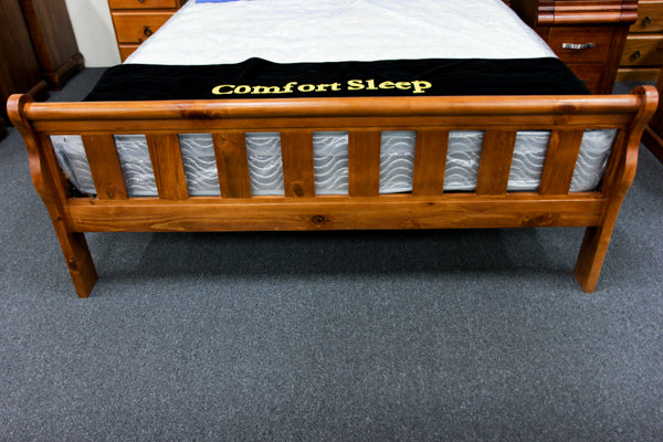 Crescent Queen Bed (Slatted)