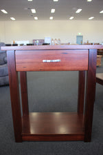 Jarrah 1 Drw Hall Table with Shelf