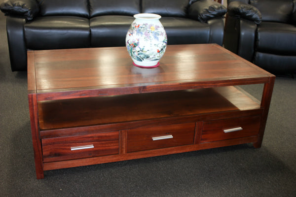 Albeny Jarrah 3 Drw Coffee Table