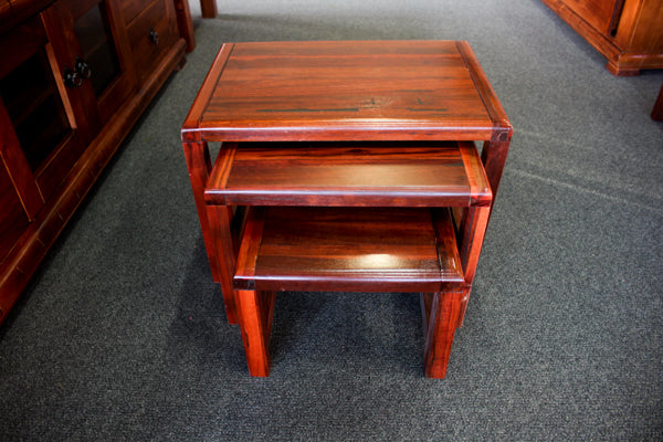 Jarrah Chunky 3 Piece Nest of Tables