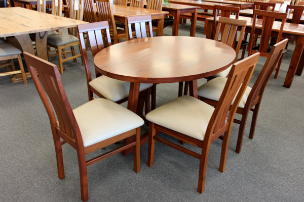 WA Jarrah ST Oval 7 Piece Dining Suite (WA Made)