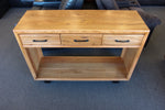 Lynwood Chestnut 3 Drw Hall Table