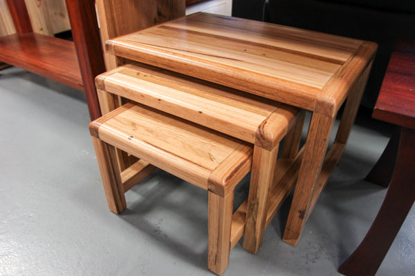 Chestnut Chunky 3 Pce Nest Table