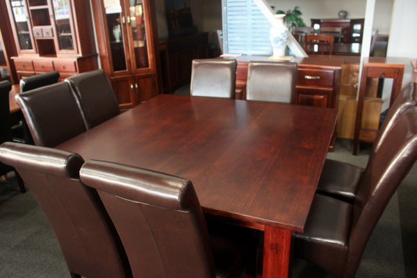 Rosewood 1500 SQ 9 Piece Dining Suite