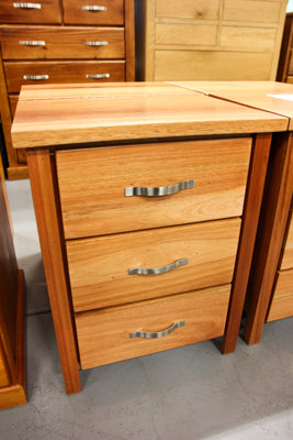 Rosewood 3 Drw Bedside