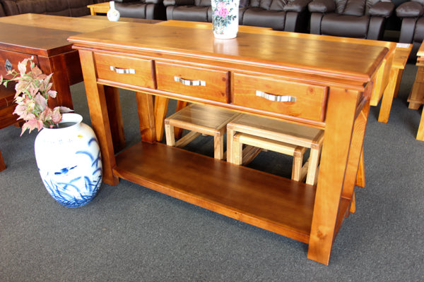 Stirling 3 Drawer Hall Table