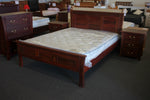 York Jarrah Queen Bed