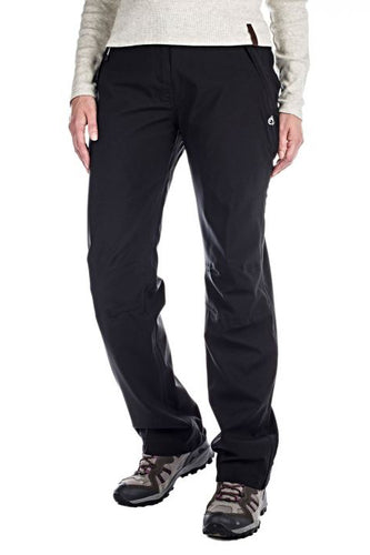 Sportswear model wearing black Aysgarth hiking trousers