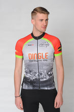 Load image into Gallery viewer, A man wears the short sleeve Dingle Bike Kerry Cycling Jersey