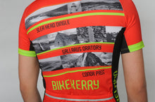 Load image into Gallery viewer, Back view of a man wearing the short sleeve Dingle Bike Kerry Cycling Jersey