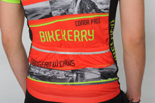 Load image into Gallery viewer, Close up of a man and wearing the short sleeve Dingle Bike Kerry Cycling Jersey