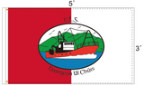 The official Dingle GAA Flag and the logo emblazoned in large upon it